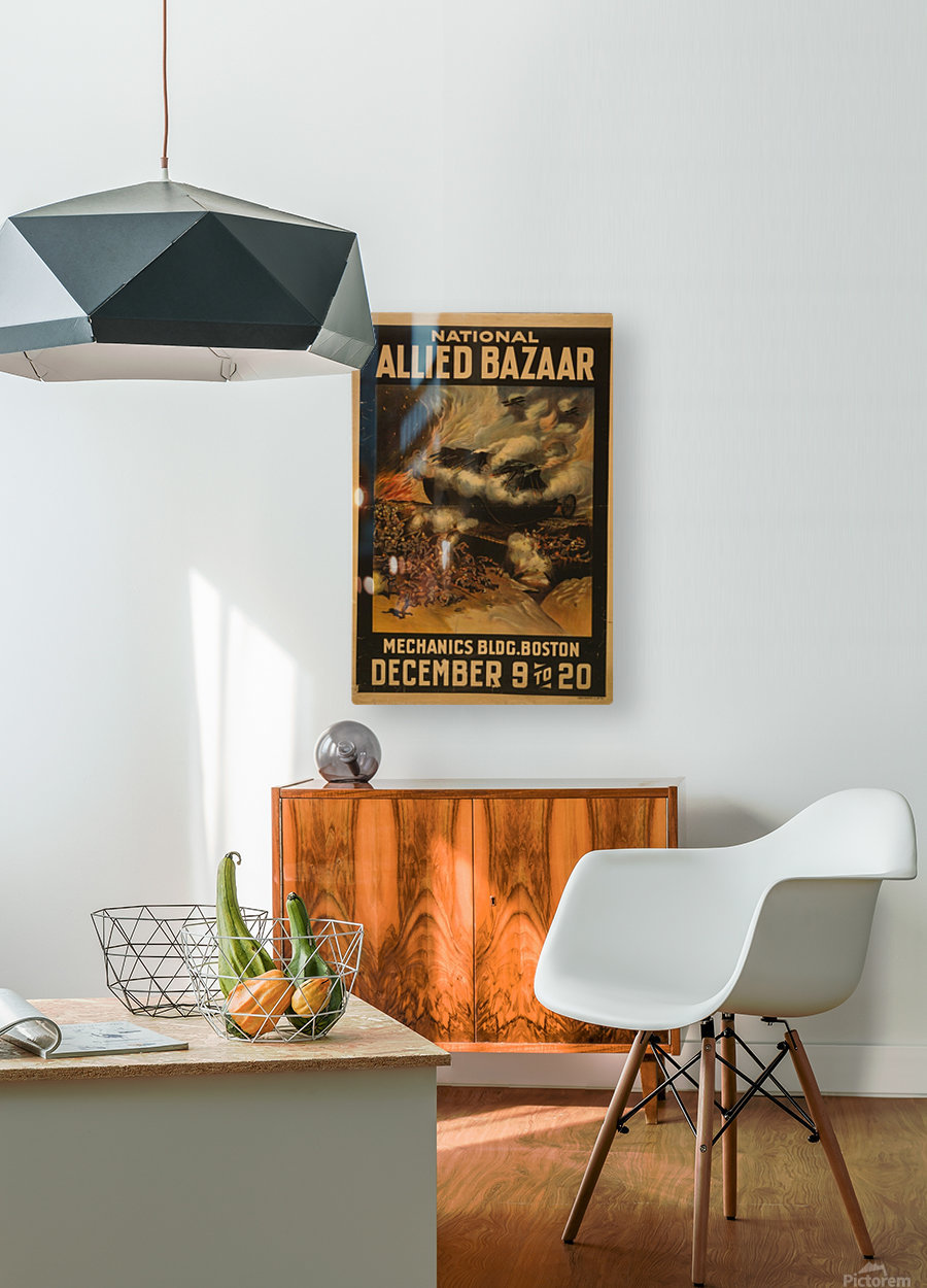 National Allied Bazaar  HD Metal print with Floating Frame on Back