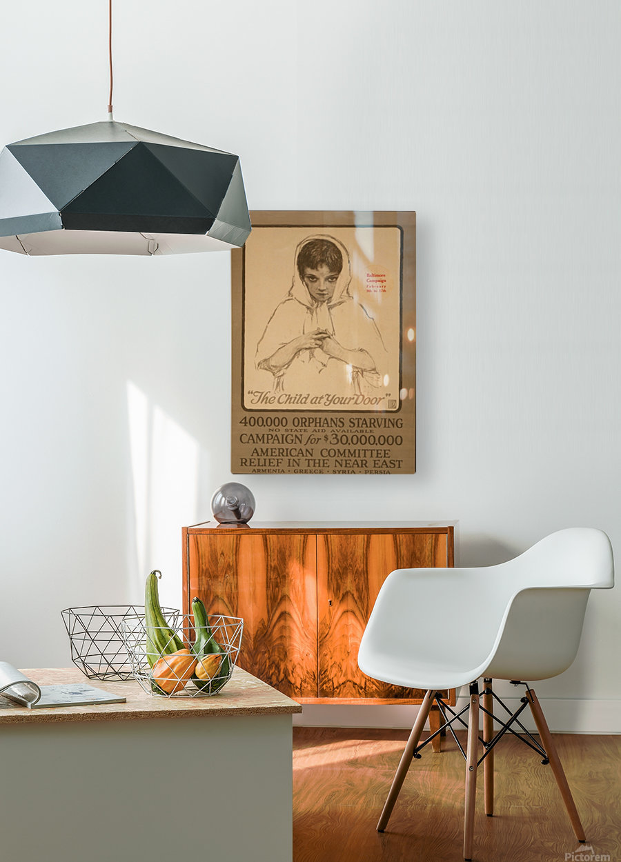 Orphans  HD Metal print with Floating Frame on Back