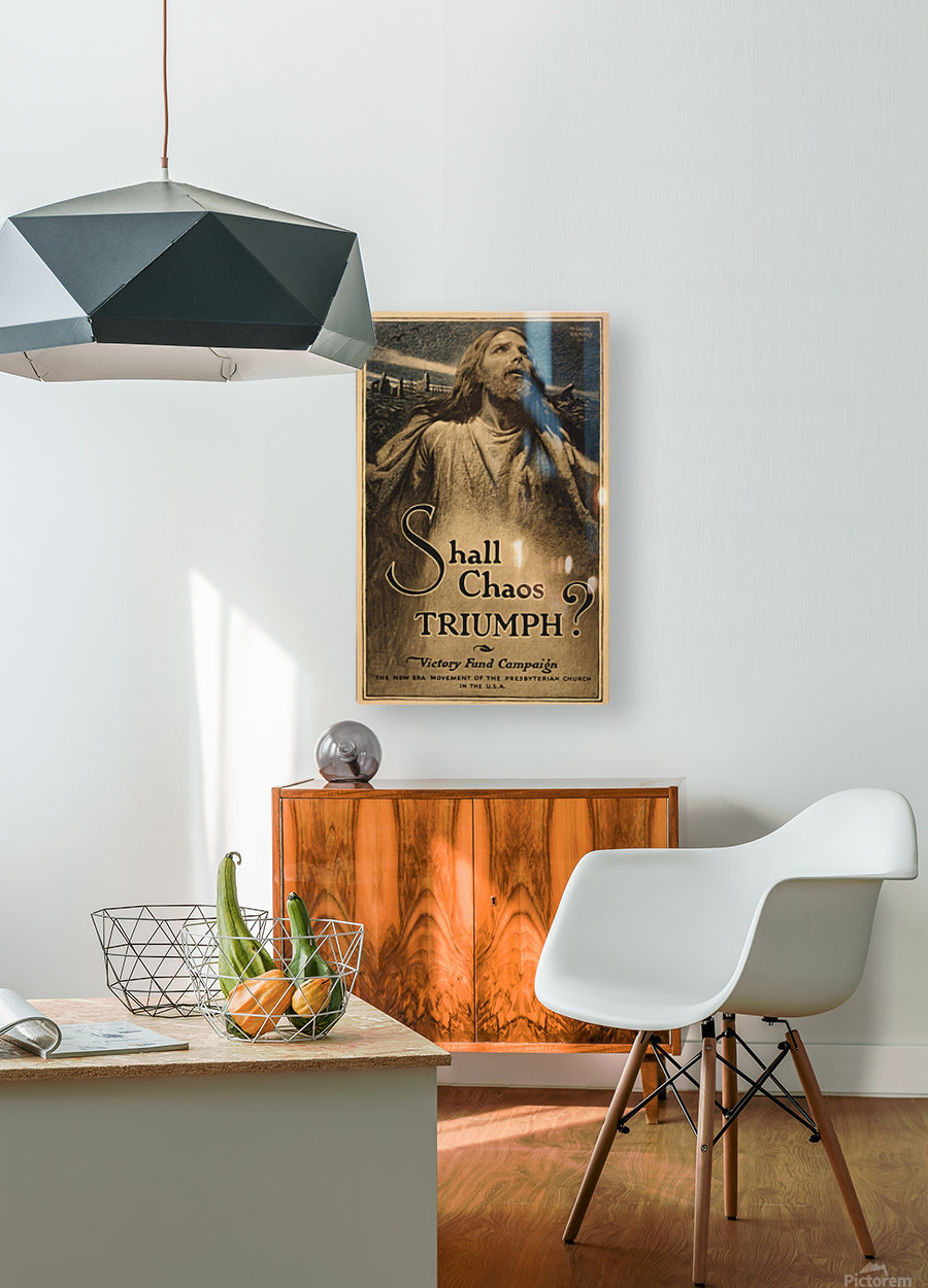 Shall Chaos Triumph!  HD Metal print with Floating Frame on Back