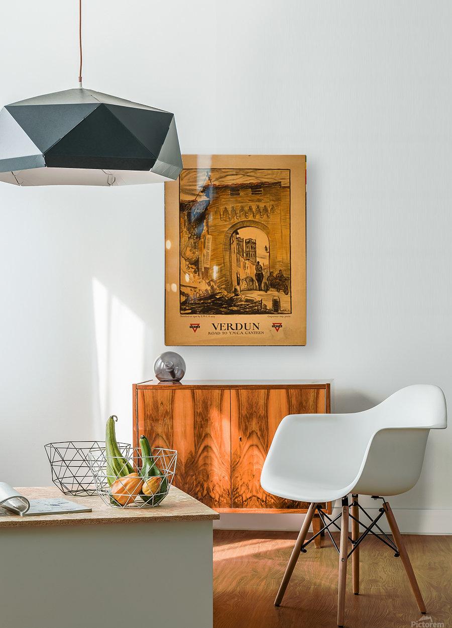 Verdun  HD Metal print with Floating Frame on Back