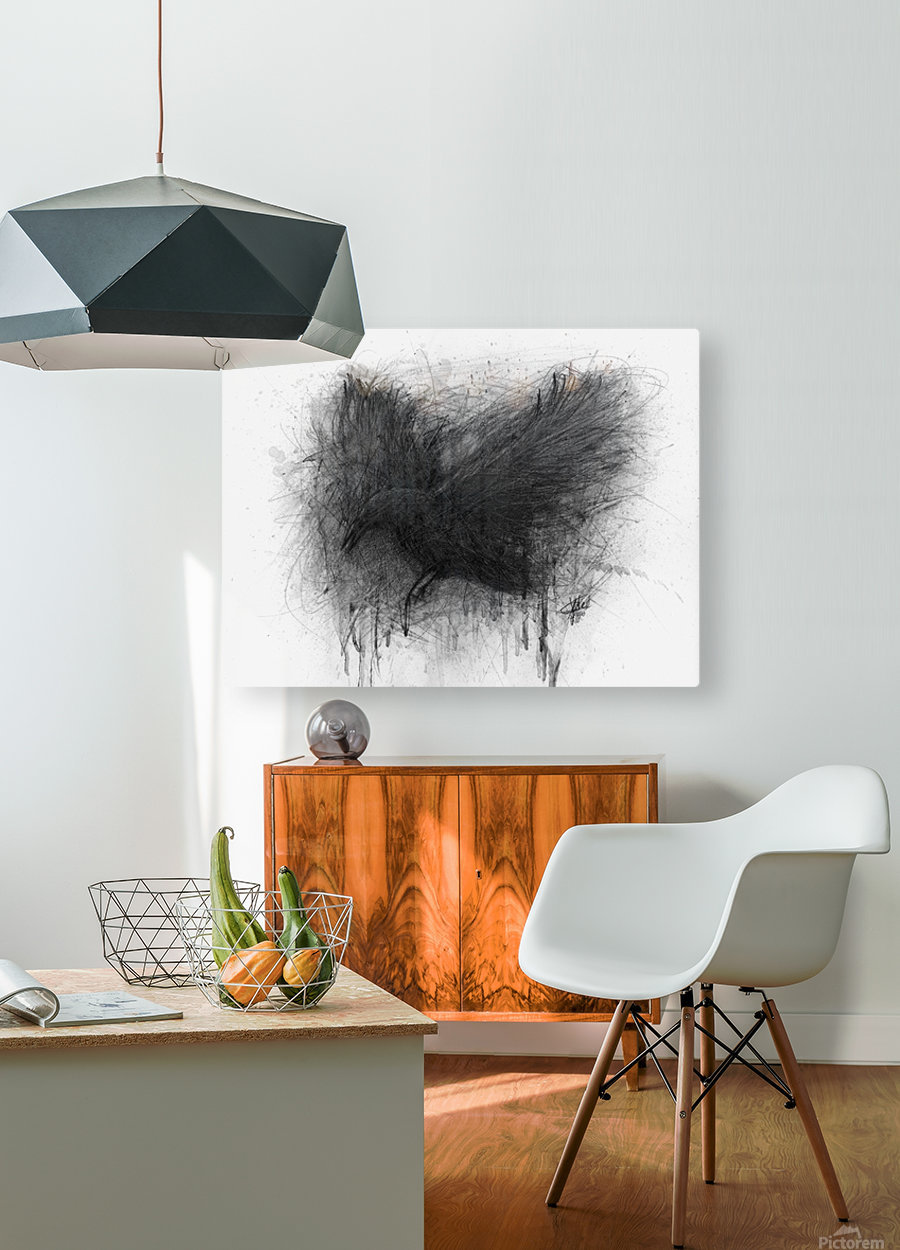 The Raven  HD Metal print with Floating Frame on Back