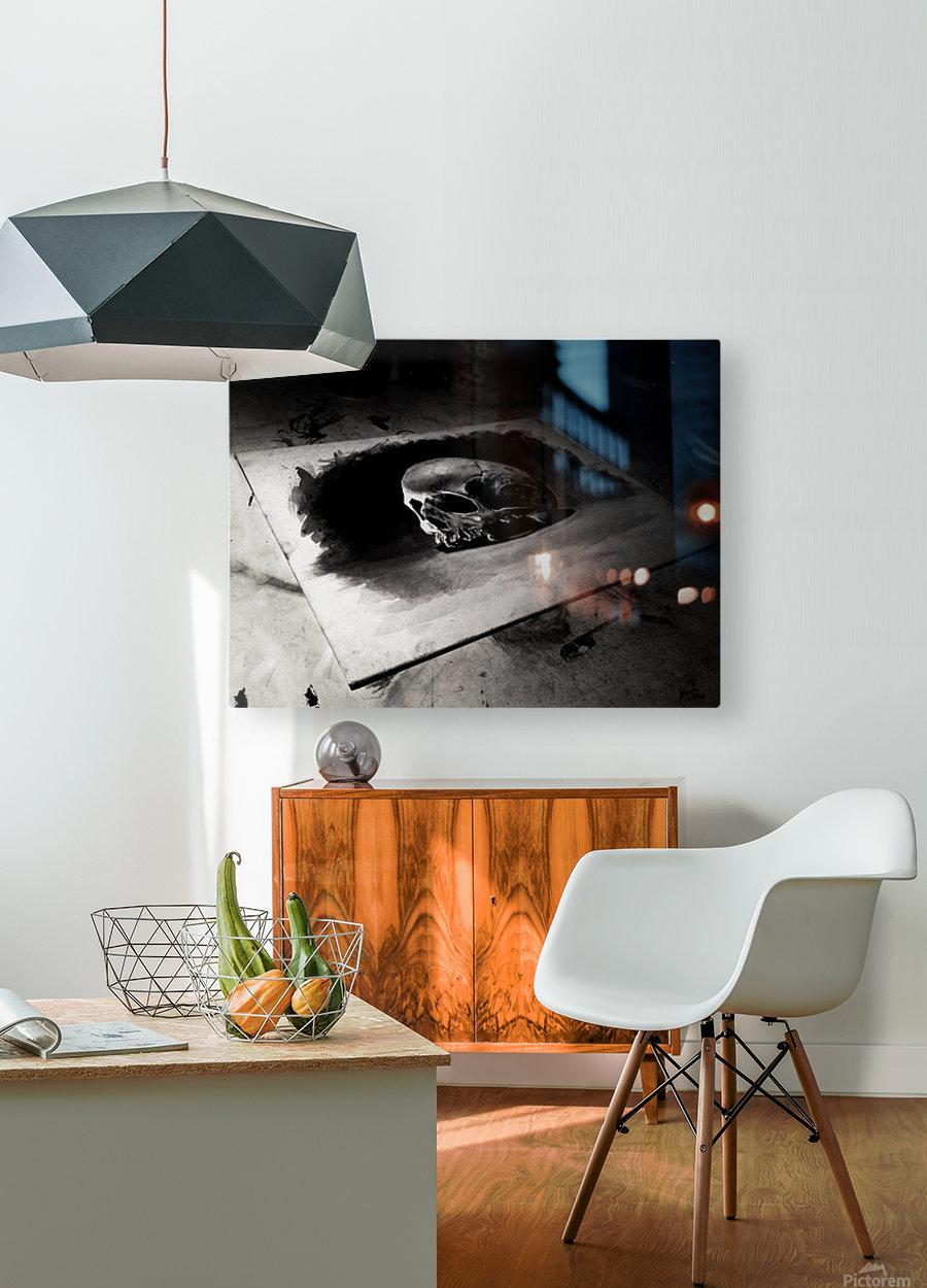 Skull  HD Metal print with Floating Frame on Back