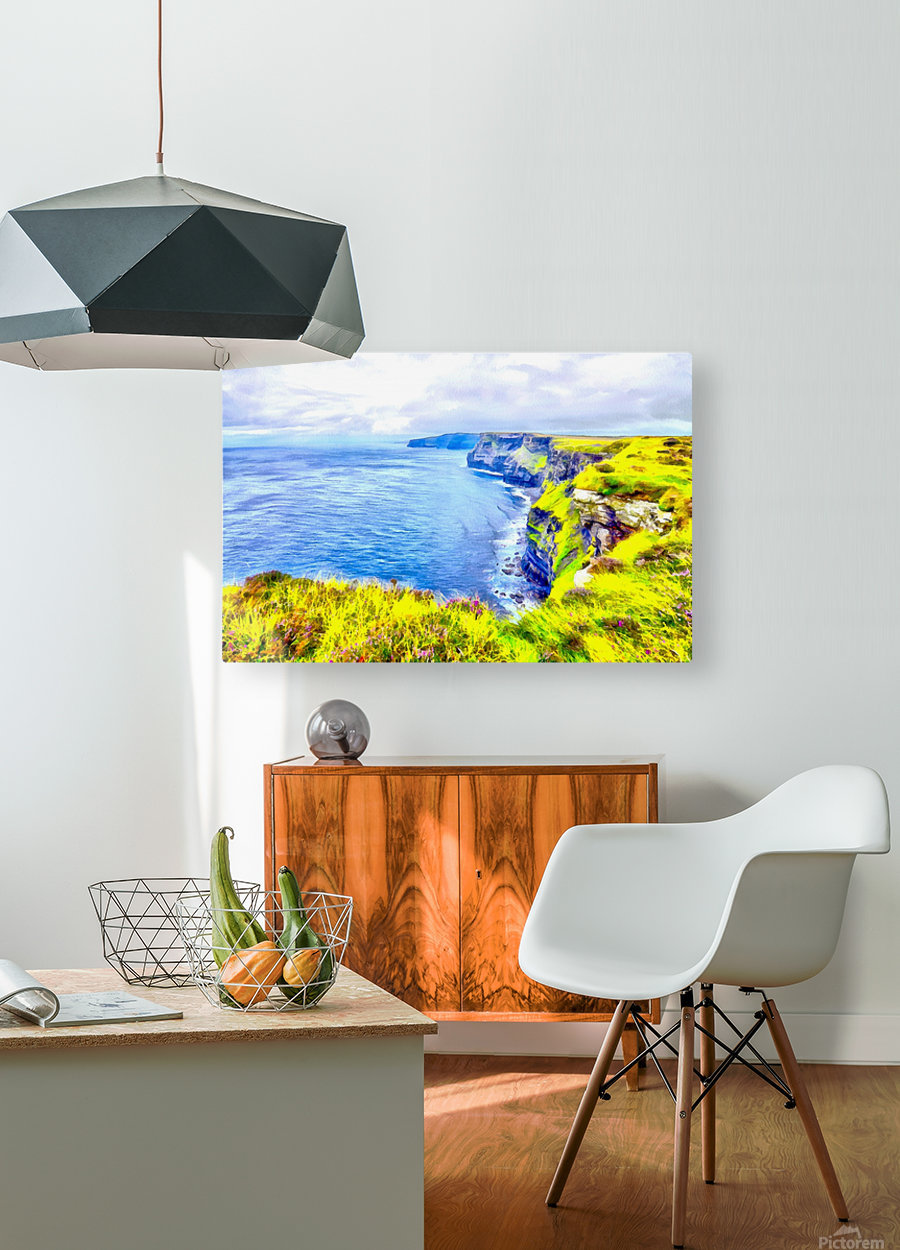 CLIFFS OF MOHER 1 AZO  HD Metal print with Floating Frame on Back