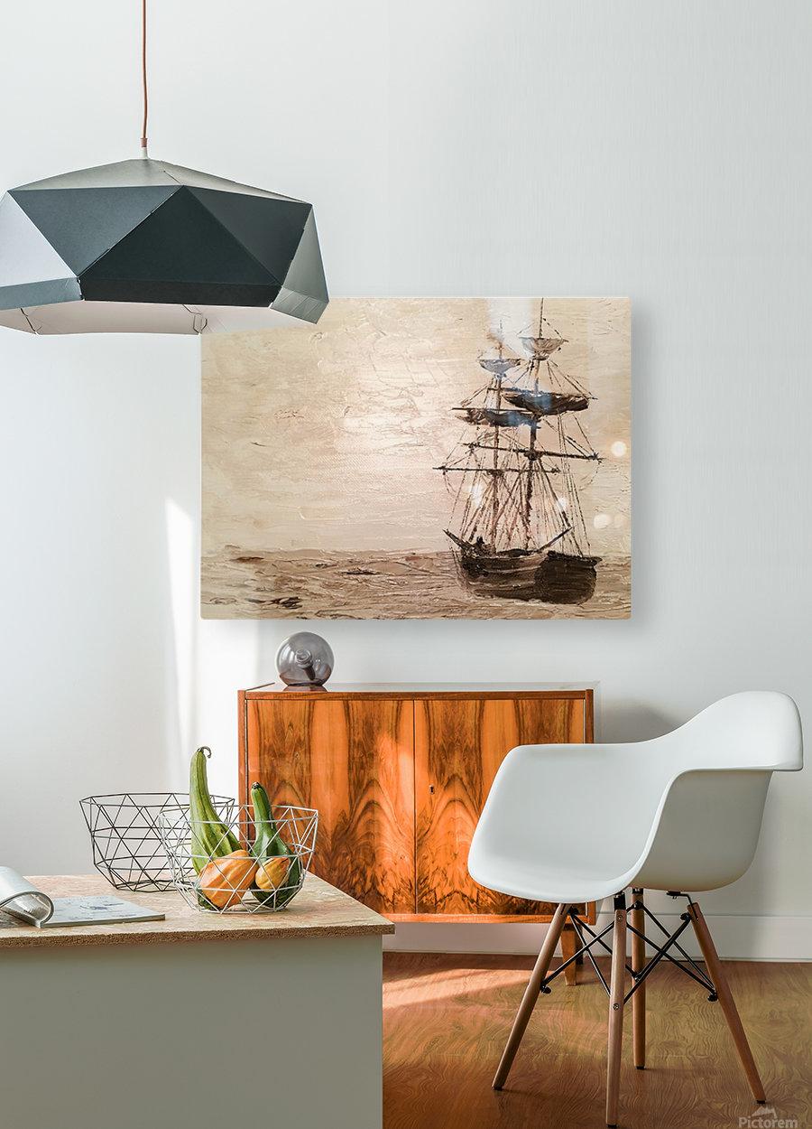 TaiPan  HD Metal print with Floating Frame on Back