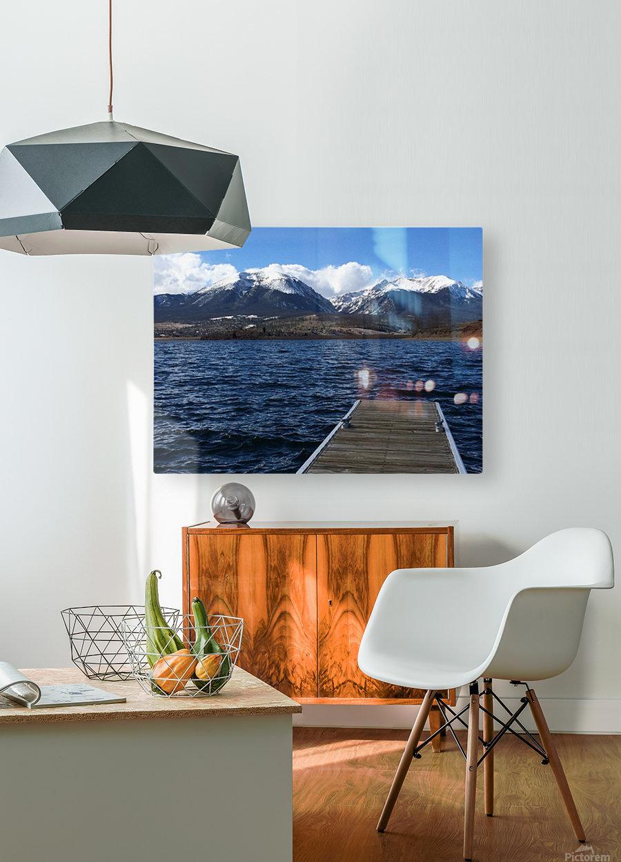 Denver Lake  HD Metal print with Floating Frame on Back