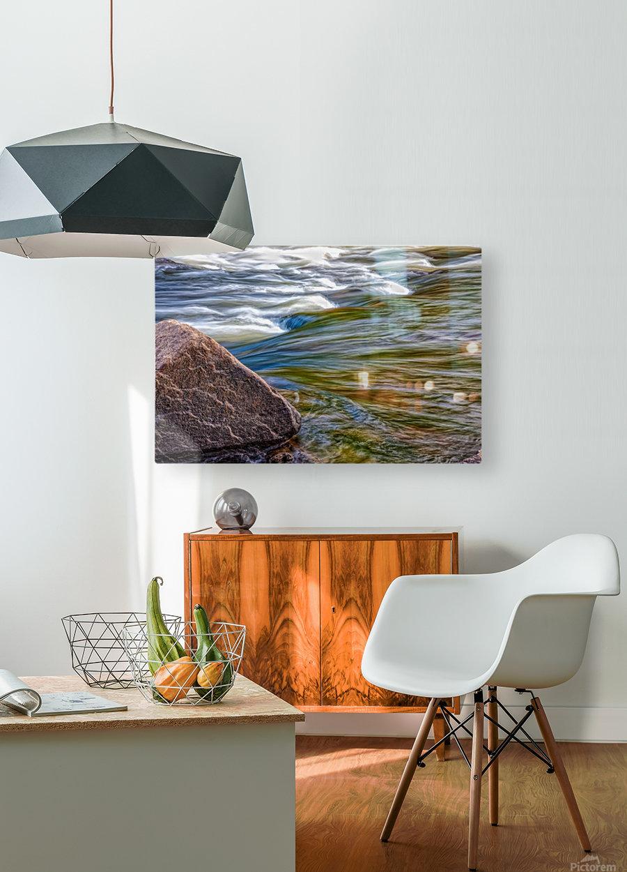River Flow  HD Metal print with Floating Frame on Back