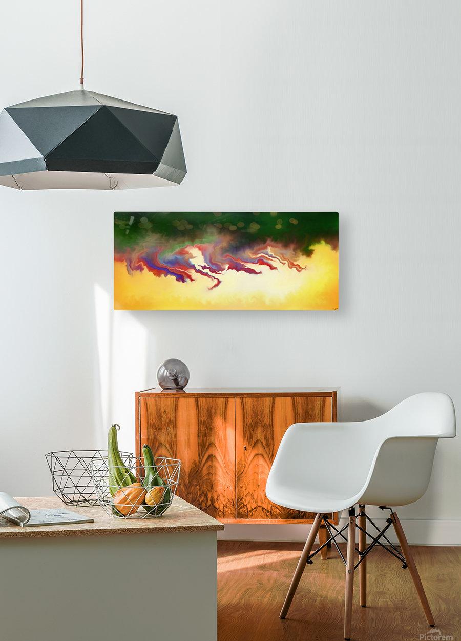 Obadiani V1 - digital abstract  HD Metal print with Floating Frame on Back