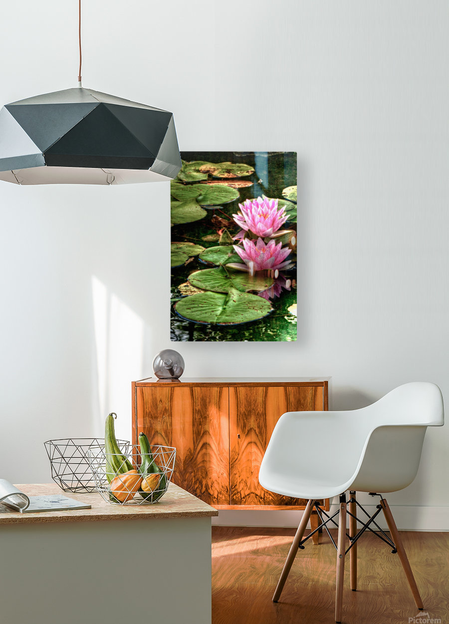 Rosewater  HD Metal print with Floating Frame on Back