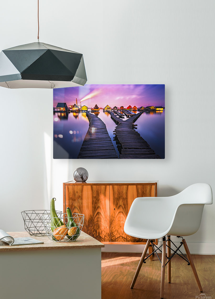 Two worlds  HD Metal print with Floating Frame on Back