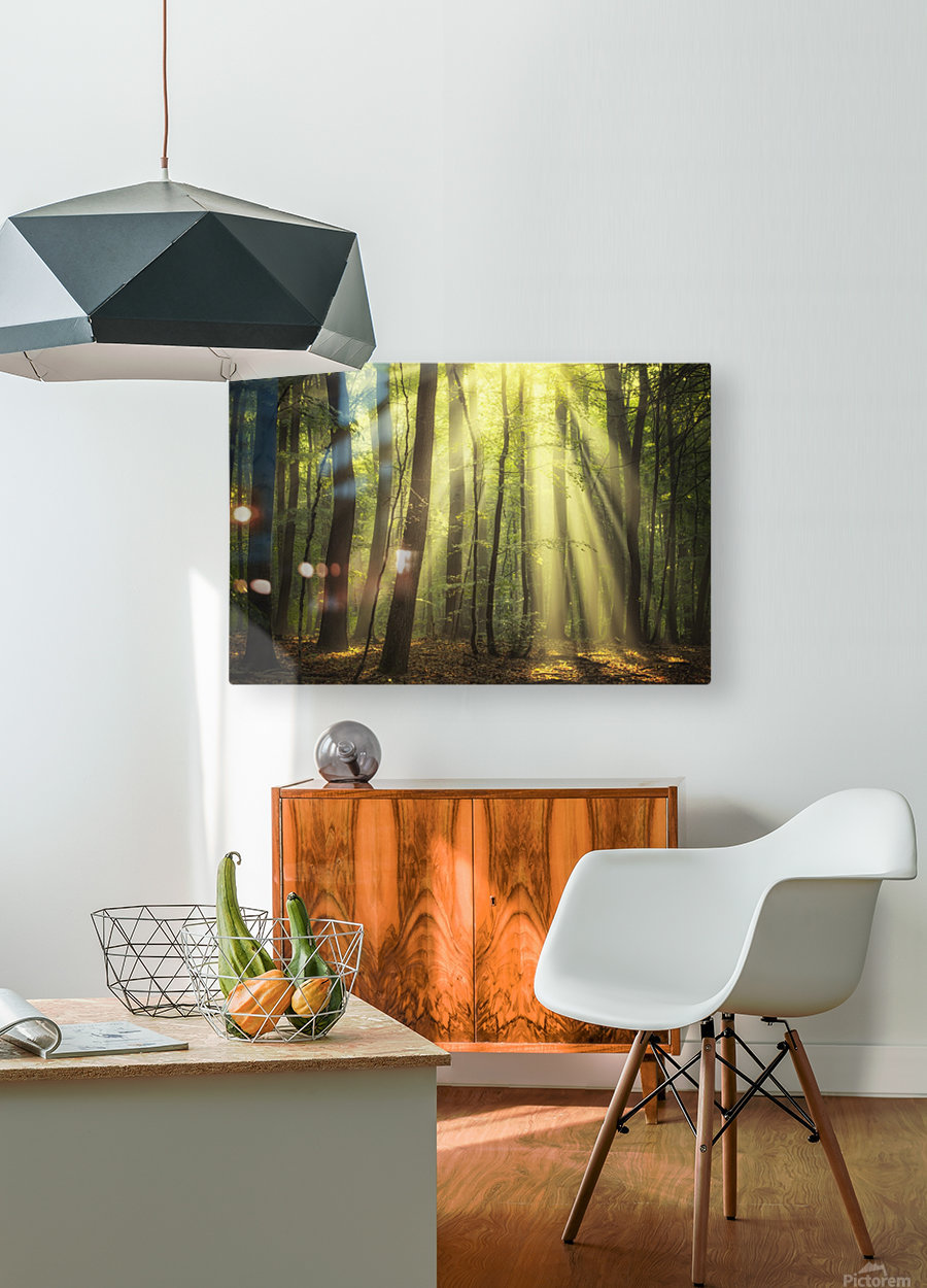 When the sun touch your heart  HD Metal print with Floating Frame on Back