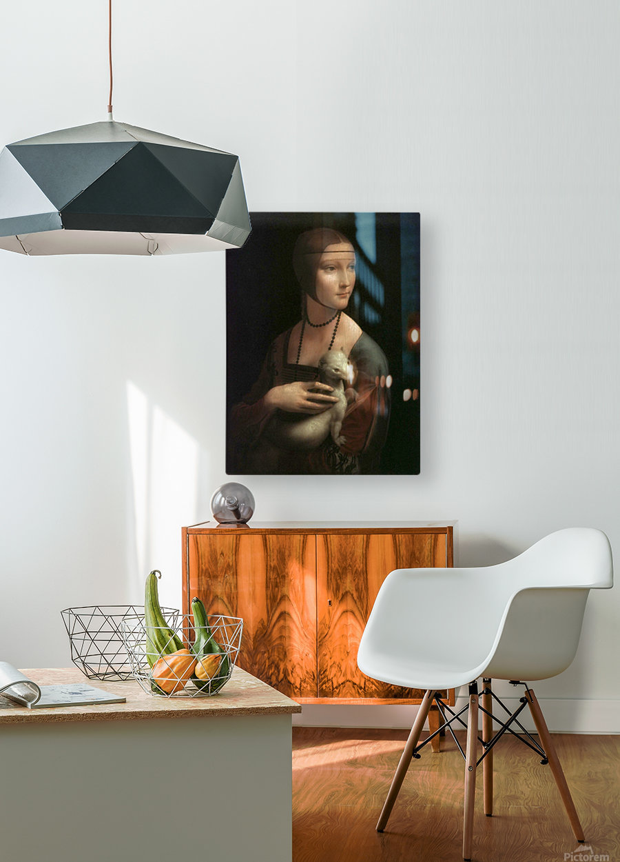 The Lady with Ermine  HD Metal print with Floating Frame on Back