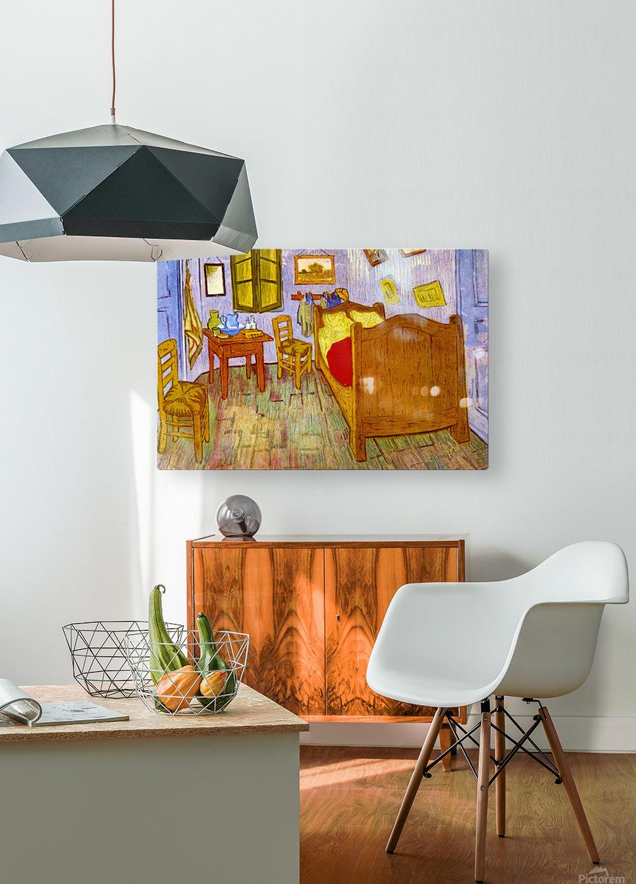Bedroom at Arles by van Gogh  HD Metal print with Floating Frame on Back