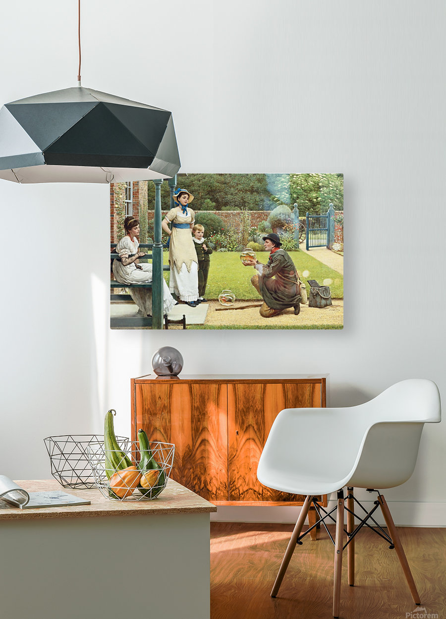 The Goldfish Seller  HD Metal print with Floating Frame on Back