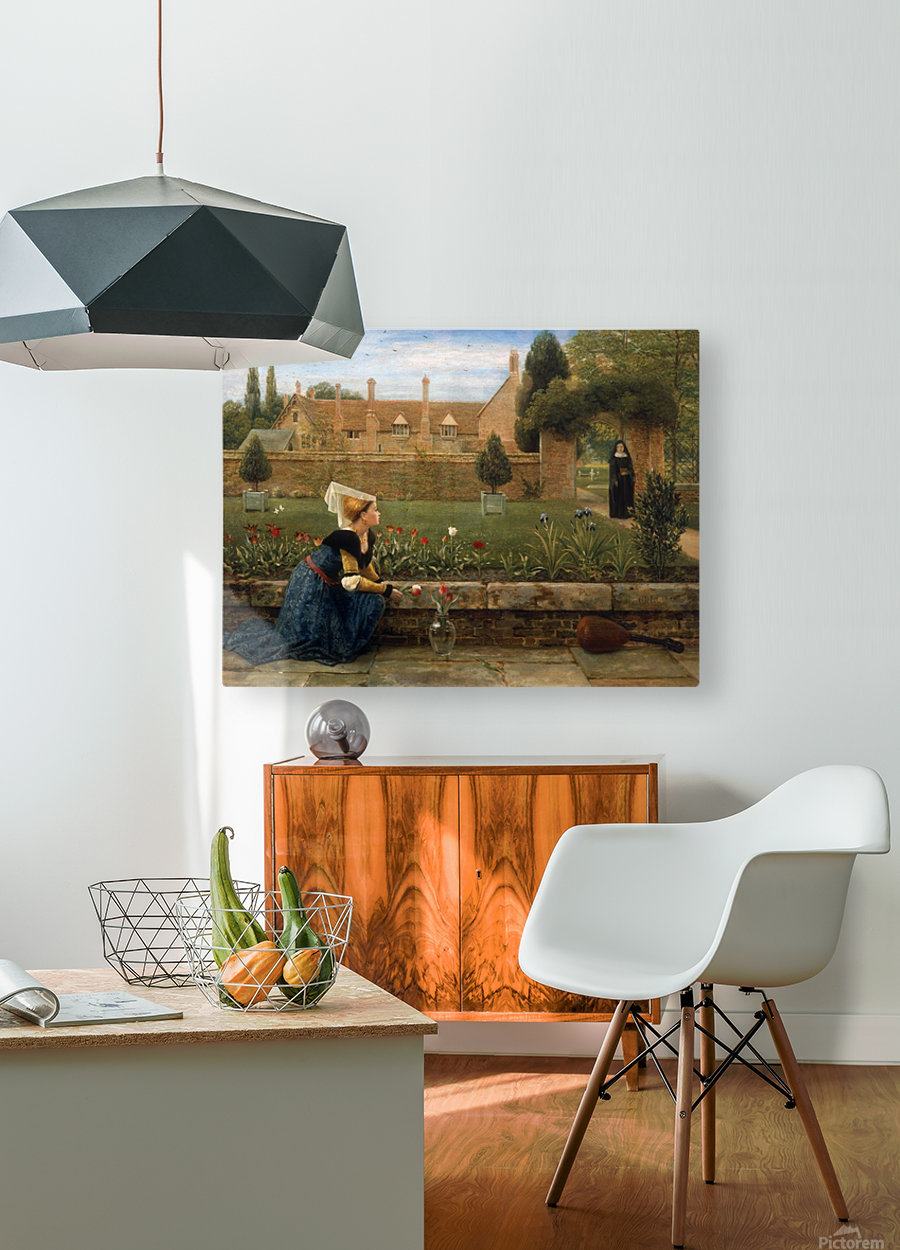 In the Convent Garden  HD Metal print with Floating Frame on Back