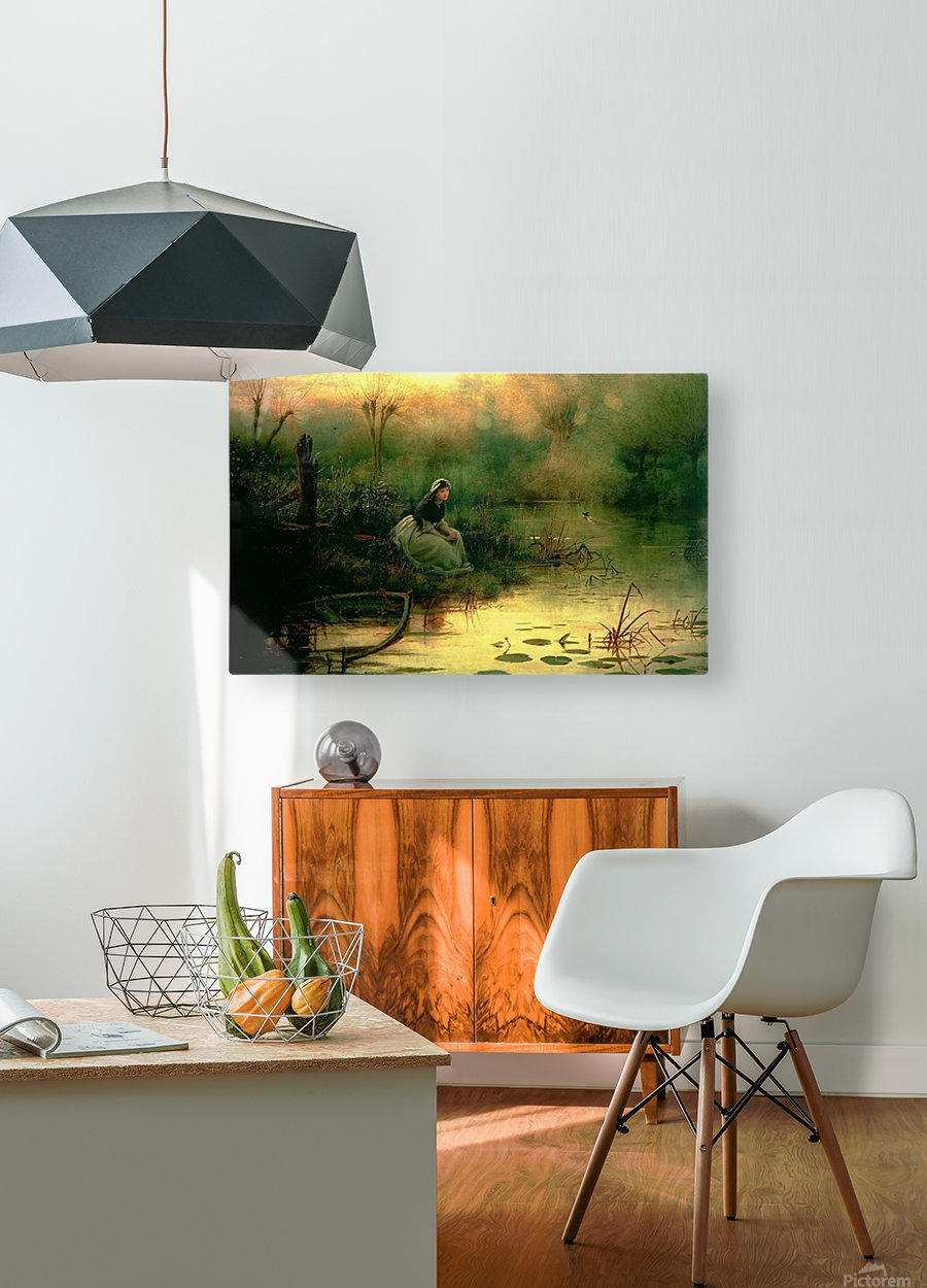 Willow from Hamlet  HD Metal print with Floating Frame on Back