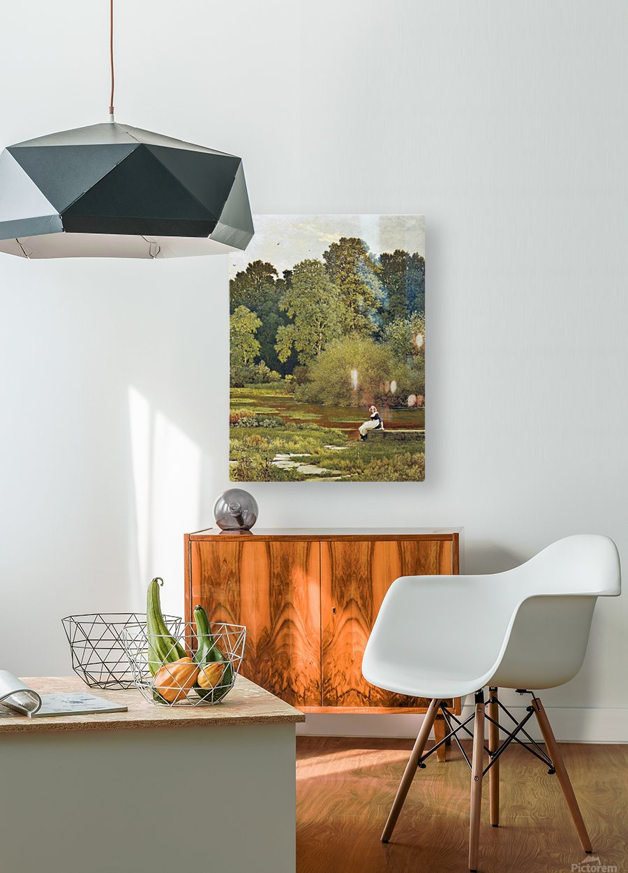 Riverside, Wallingford, Berkshire  HD Metal print with Floating Frame on Back