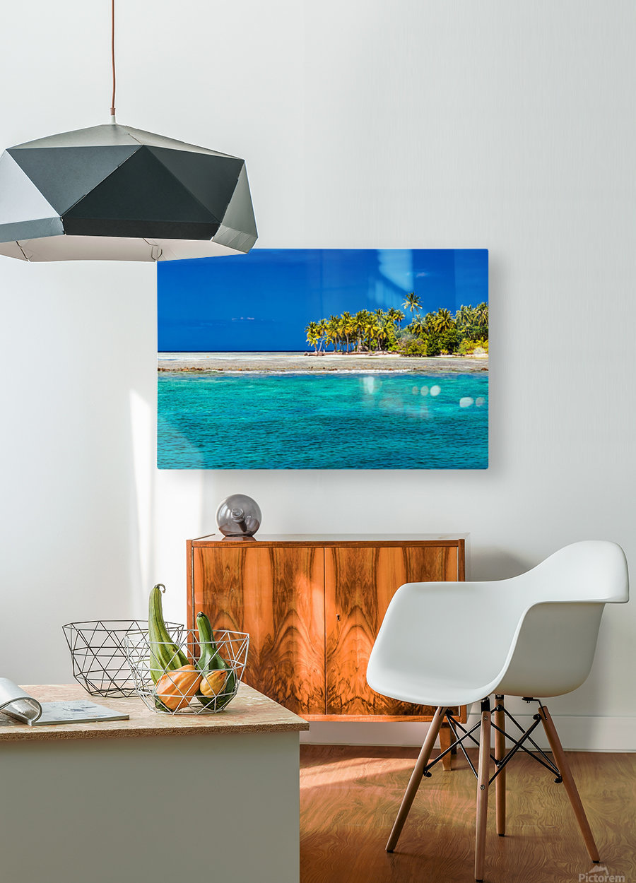 Tropical island background  HD Metal print with Floating Frame on Back