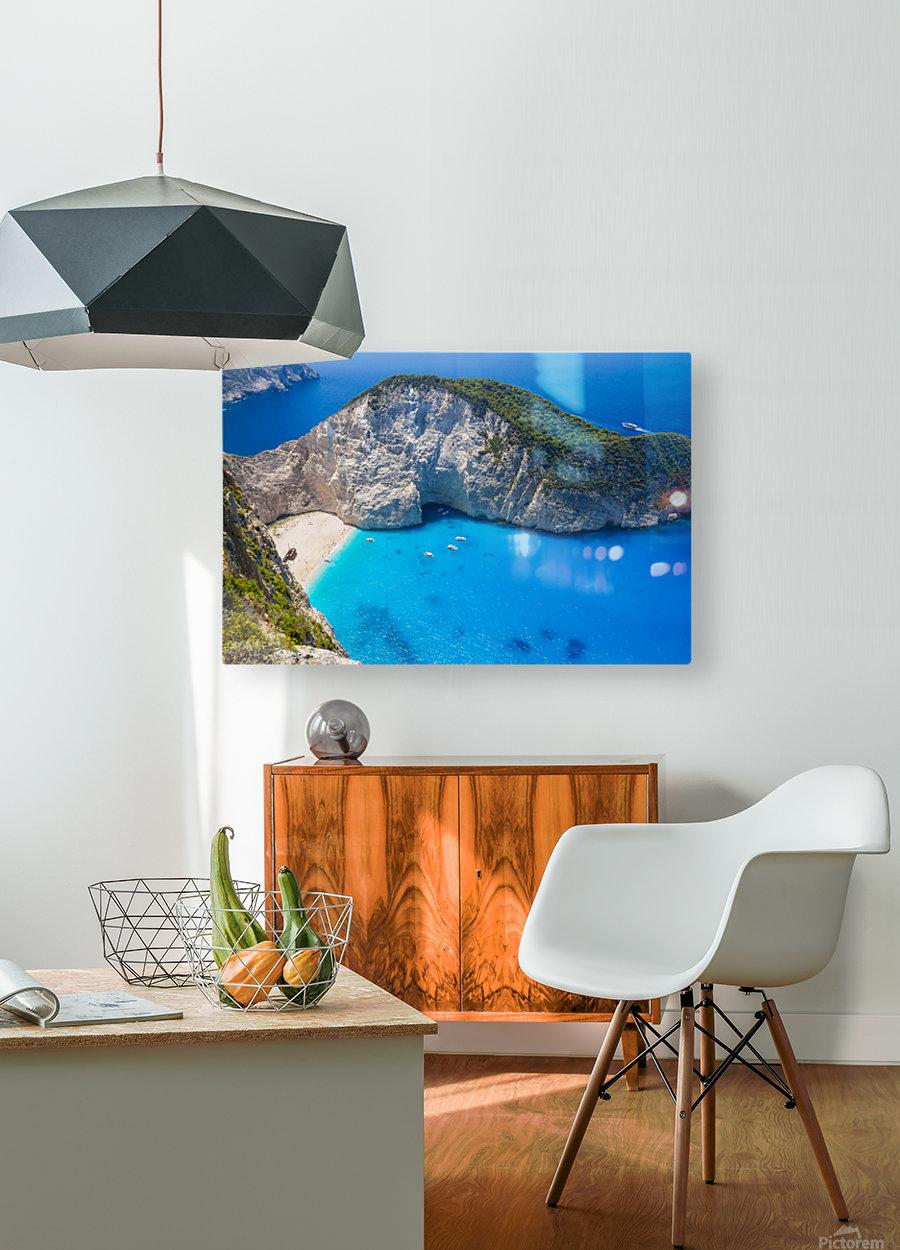 Amazing Navagio Beach in Zakynthos Island, Greece  HD Metal print with Floating Frame on Back