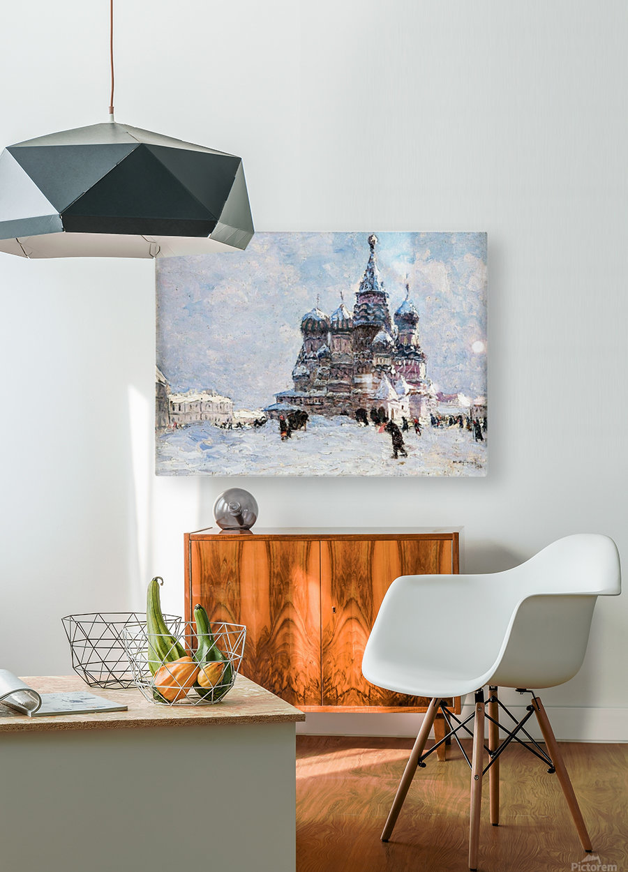Red Square  HD Metal print with Floating Frame on Back