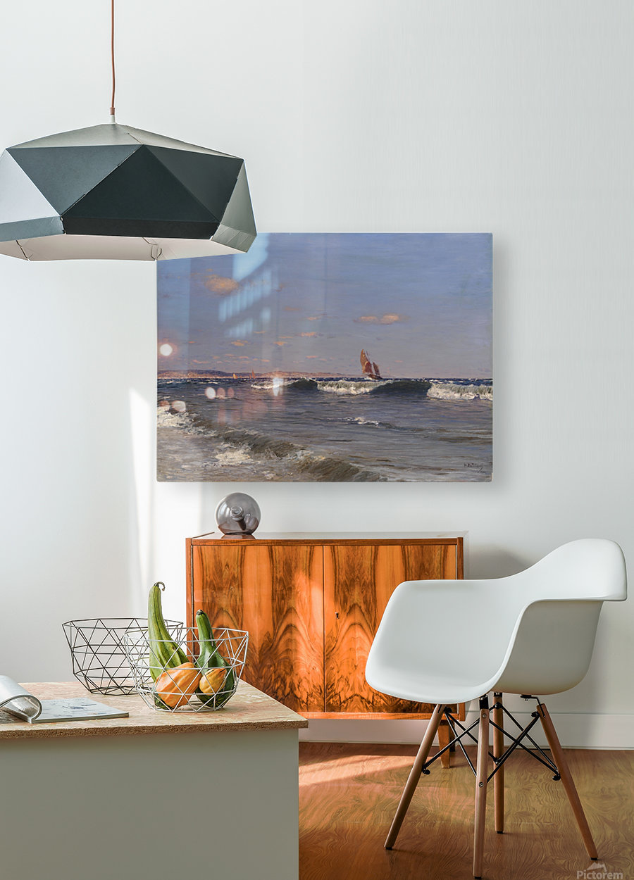 Sea Side  HD Metal print with Floating Frame on Back