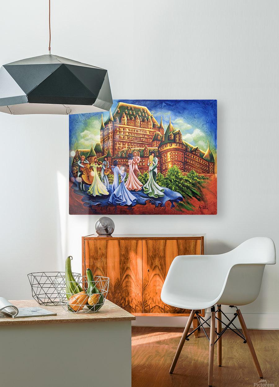 Jour de bal au Château  HD Metal print with Floating Frame on Back