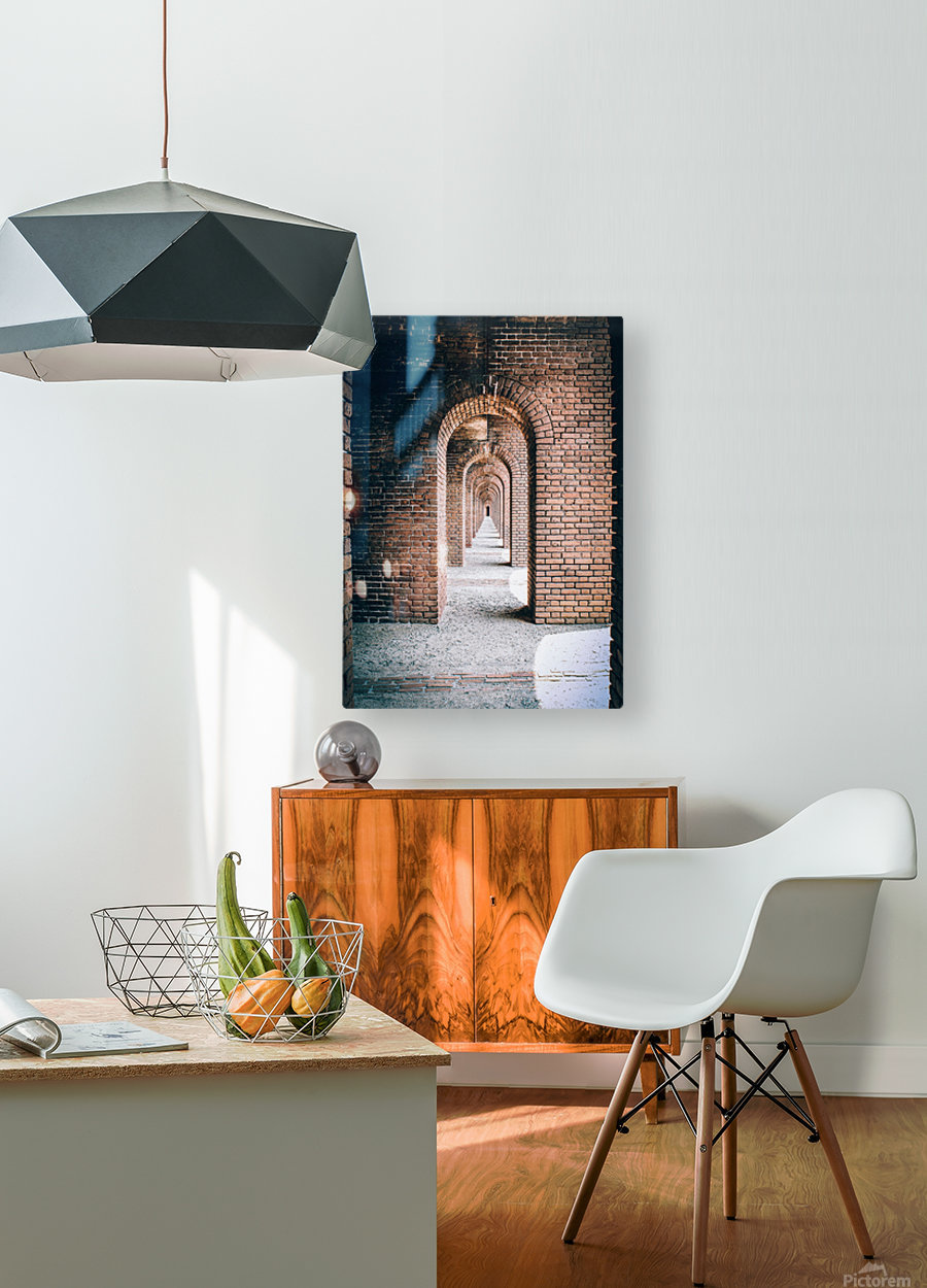 Infinite Arches-Tunnel  HD Metal print with Floating Frame on Back