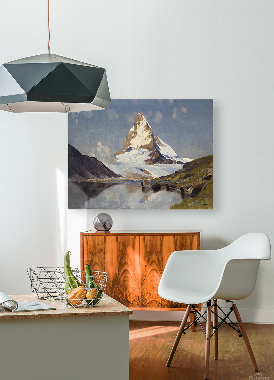 The Matterhorn  HD Metal print with Floating Frame on Back