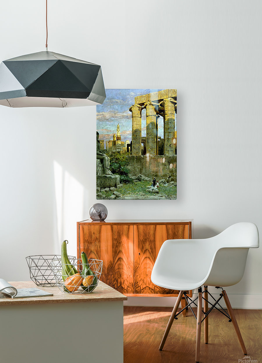 Temple of Luxor, with Abu al Haggag Mosque  HD Metal print with Floating Frame on Back