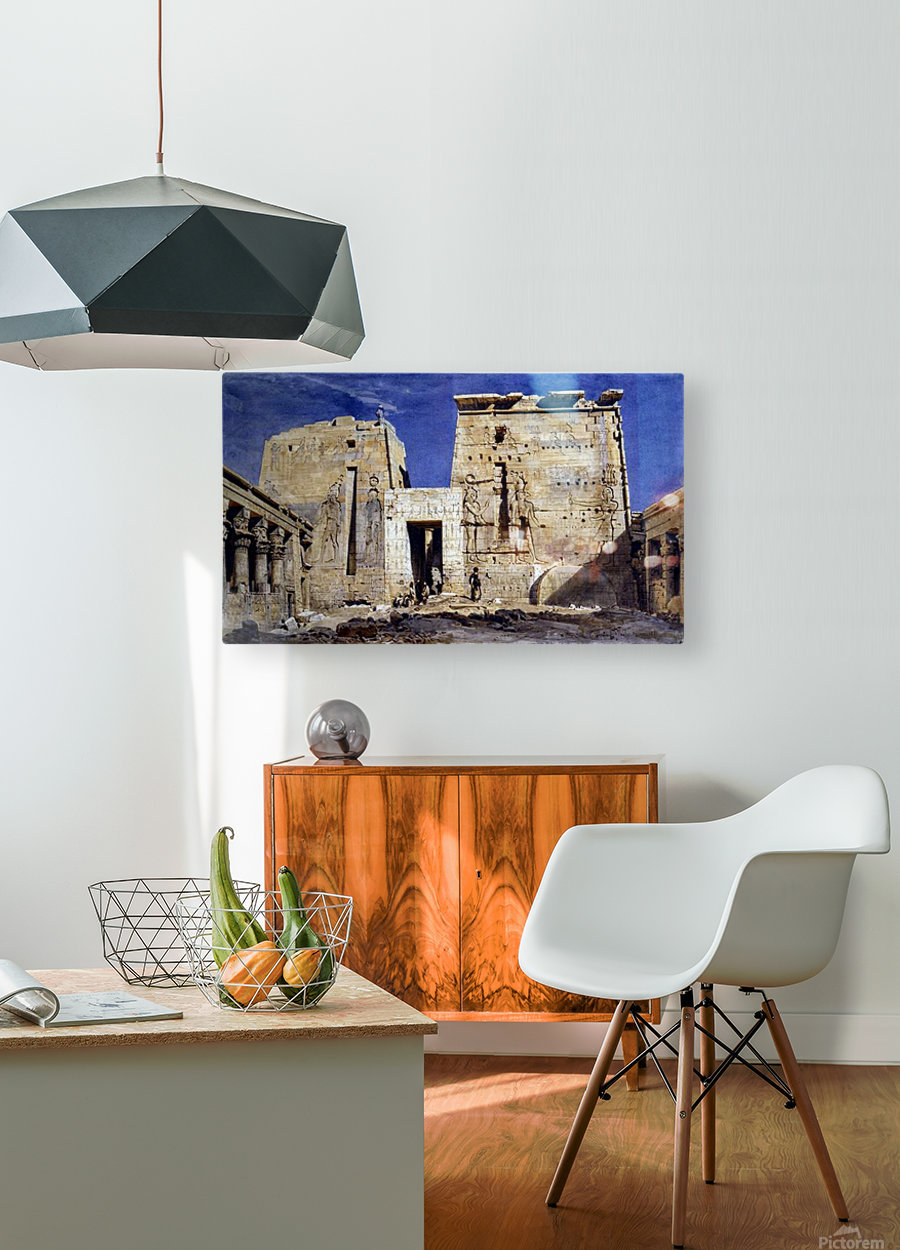 Temple of Isis at Philae  HD Metal print with Floating Frame on Back