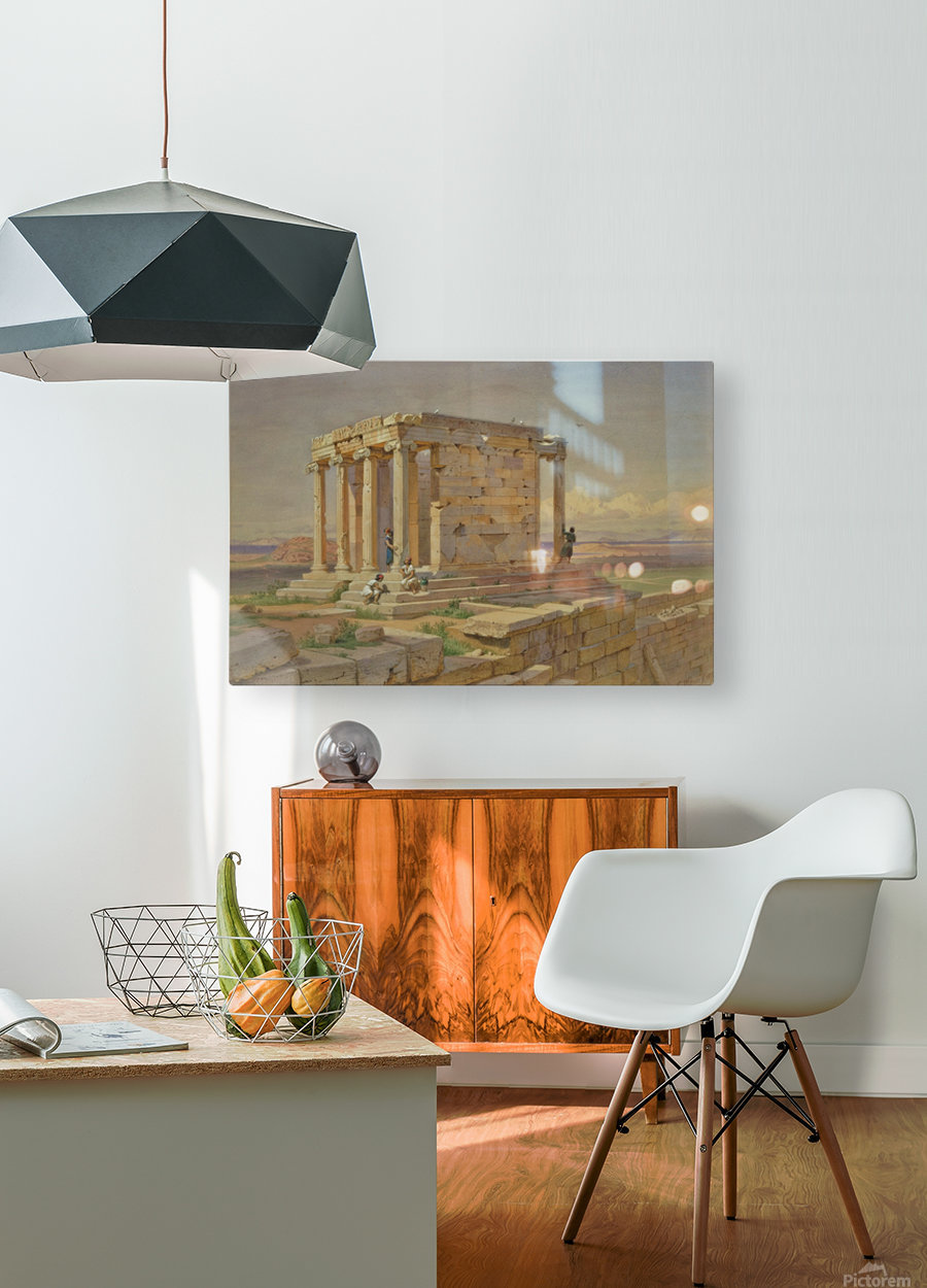 The Temple of Athena Nike  HD Metal print with Floating Frame on Back