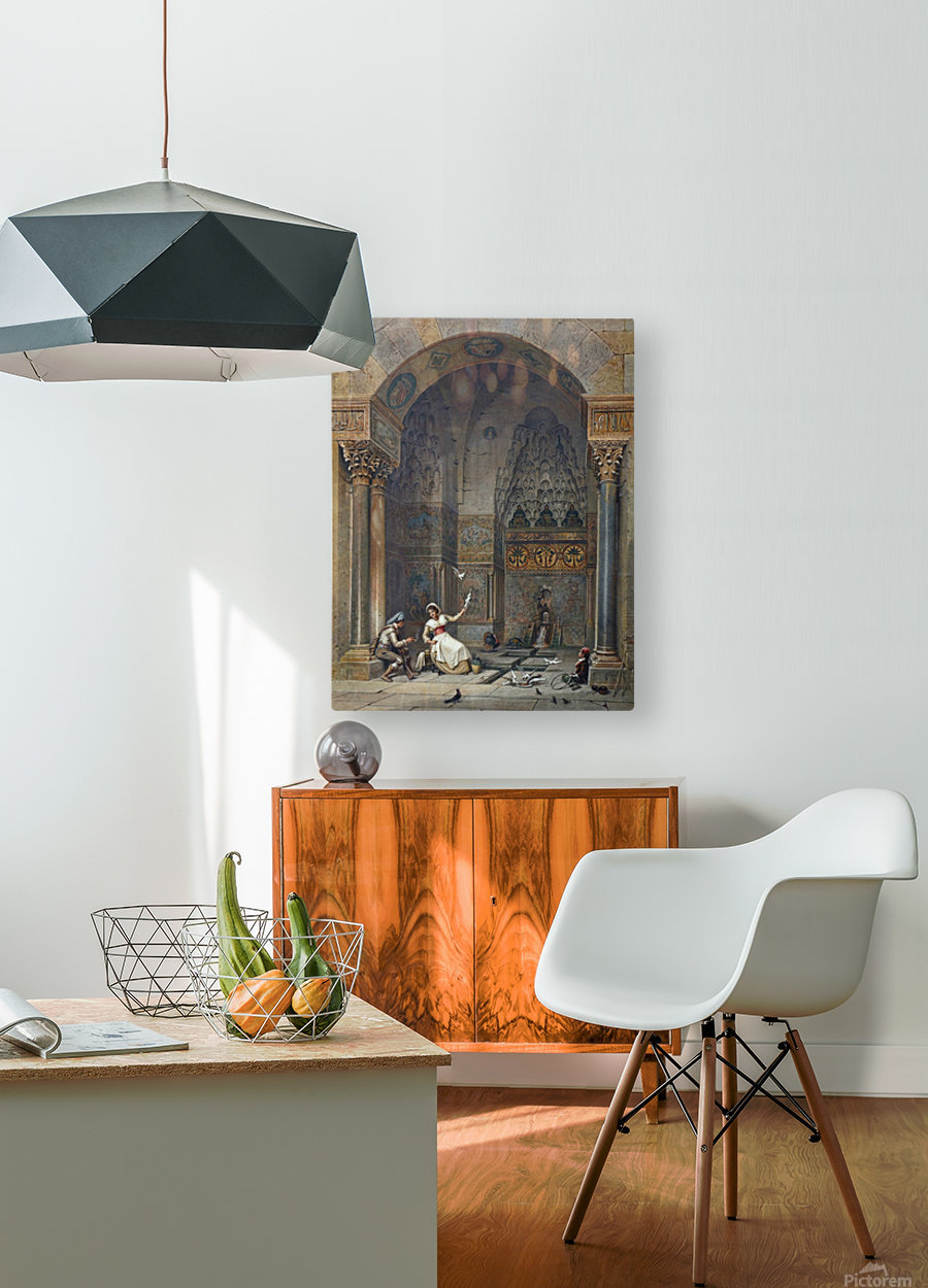 House of Zisa Palermo  HD Metal print with Floating Frame on Back