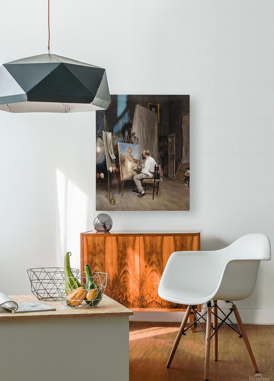 Le peintre dans son atelier  HD Metal print with Floating Frame on Back