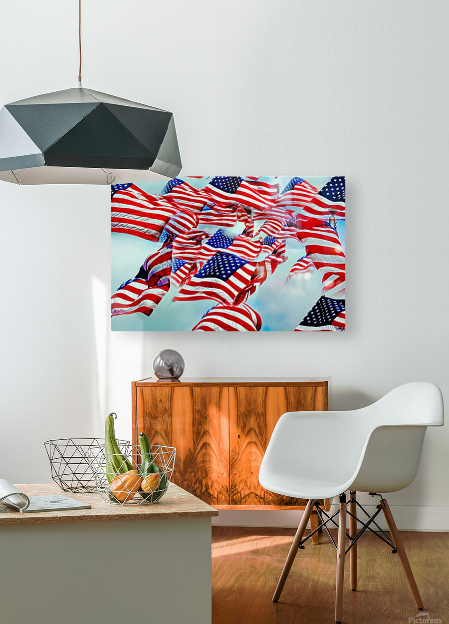 All American  HD Metal print with Floating Frame on Back