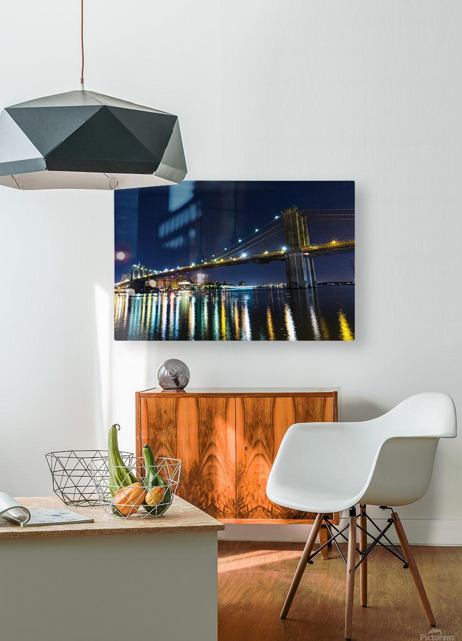 The Brooklyn Bridge  HD Metal print with Floating Frame on Back
