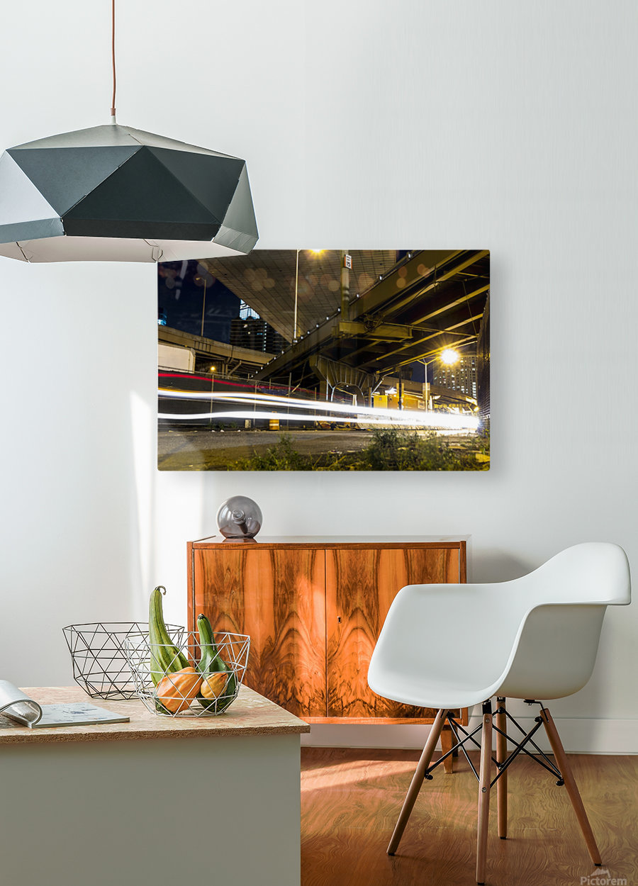 Lights of The Detour  HD Metal print with Floating Frame on Back