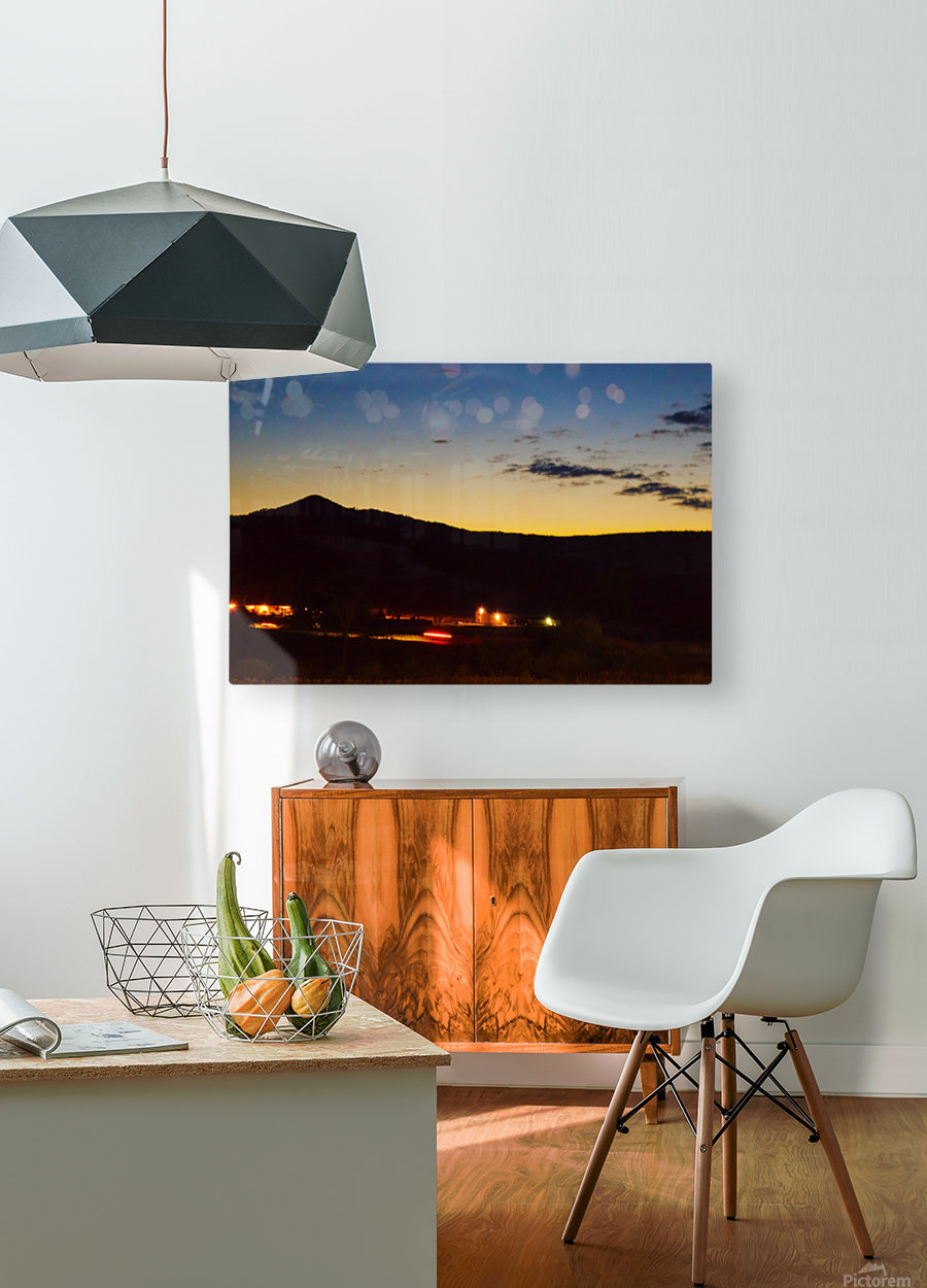 The Lonely Mountain  HD Metal print with Floating Frame on Back