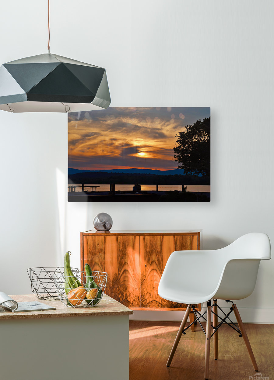 Sunset on the Shores of Ticonderoga  HD Metal print with Floating Frame on Back