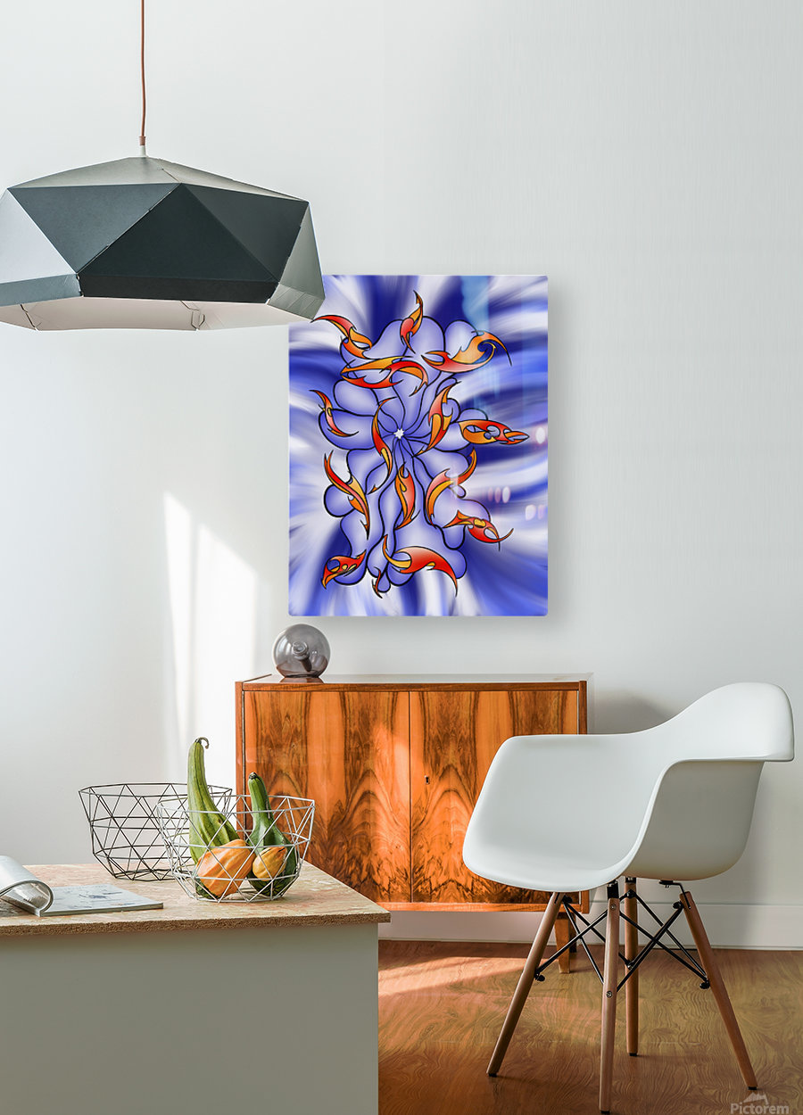 Charatiosa V3 - digital abstract  HD Metal print with Floating Frame on Back