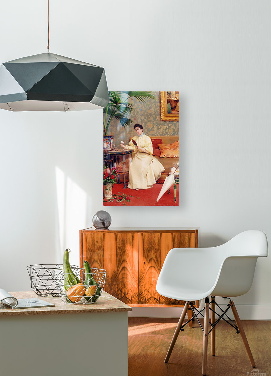 Toilette  HD Metal print with Floating Frame on Back