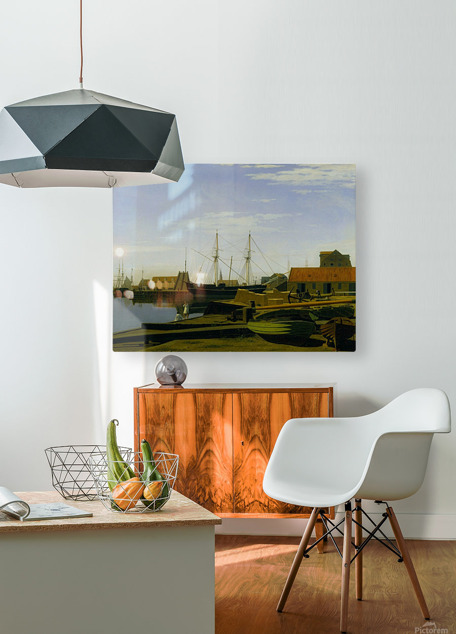 Larsen Square near Copenhagen Harbor  HD Metal print with Floating Frame on Back