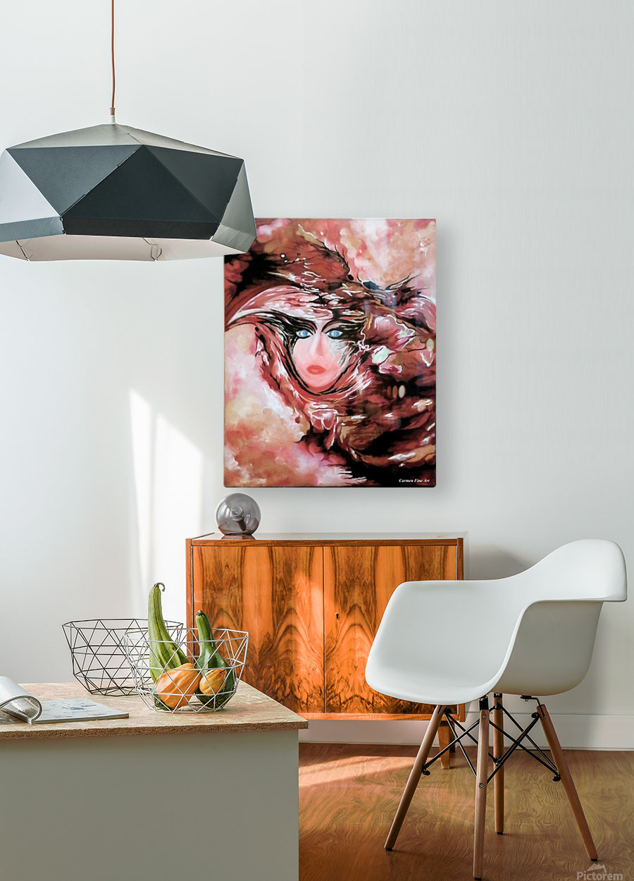 Self and Model   HD Metal print with Floating Frame on Back