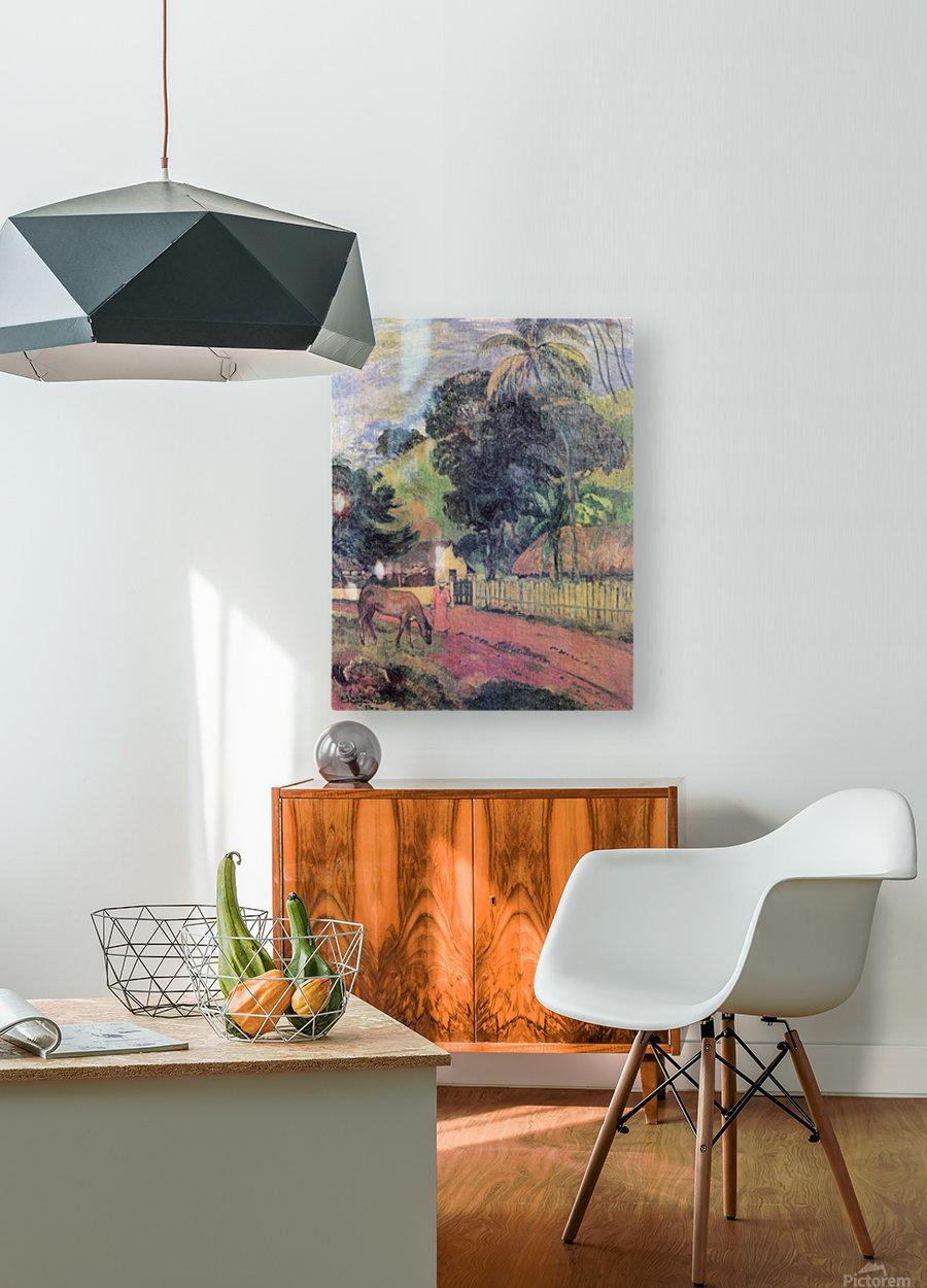 Landscape by Gauguin  HD Metal print with Floating Frame on Back