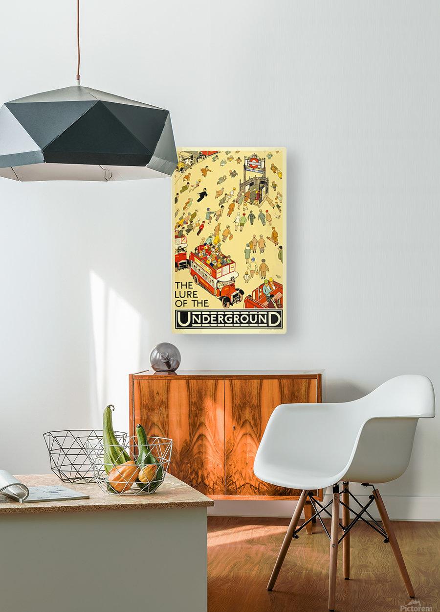 Vintage Travel Poster London Underground  HD Metal print with Floating Frame on Back