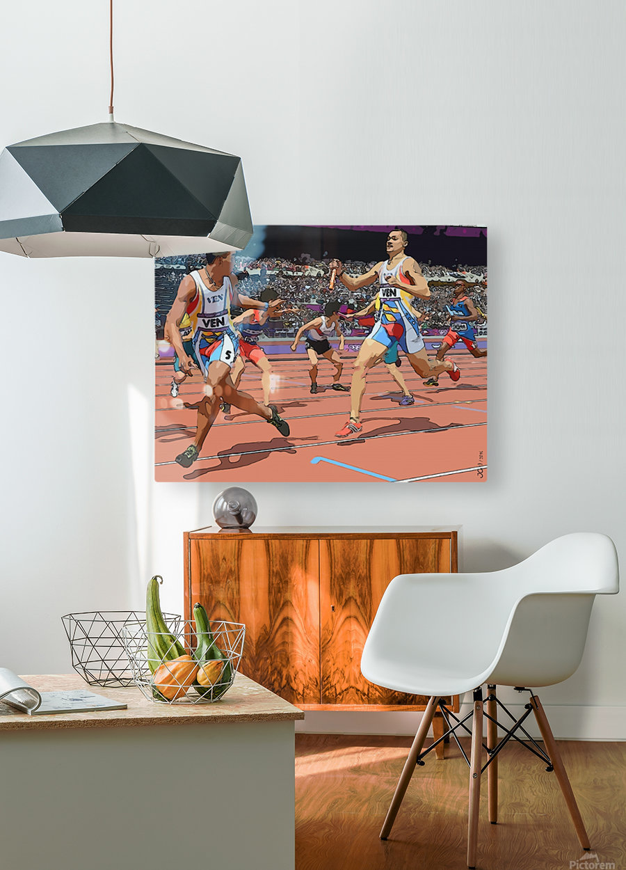 Athletics_04  HD Metal print with Floating Frame on Back