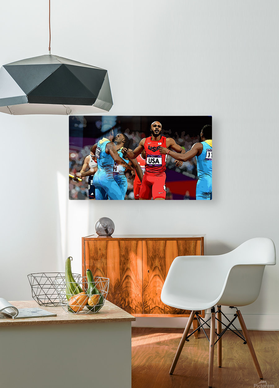 Athletics_33  HD Metal print with Floating Frame on Back