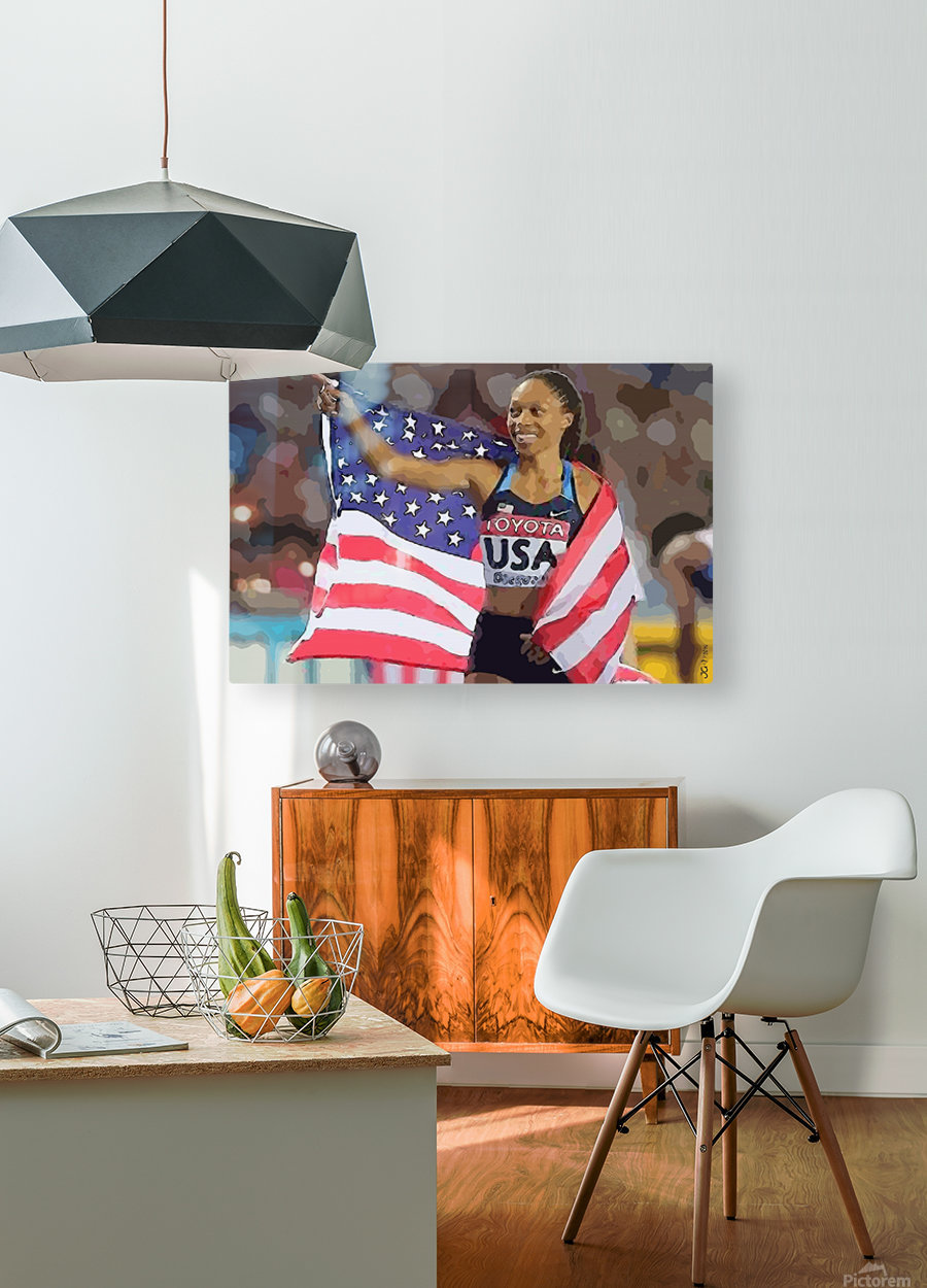 Athletics_44  HD Metal print with Floating Frame on Back