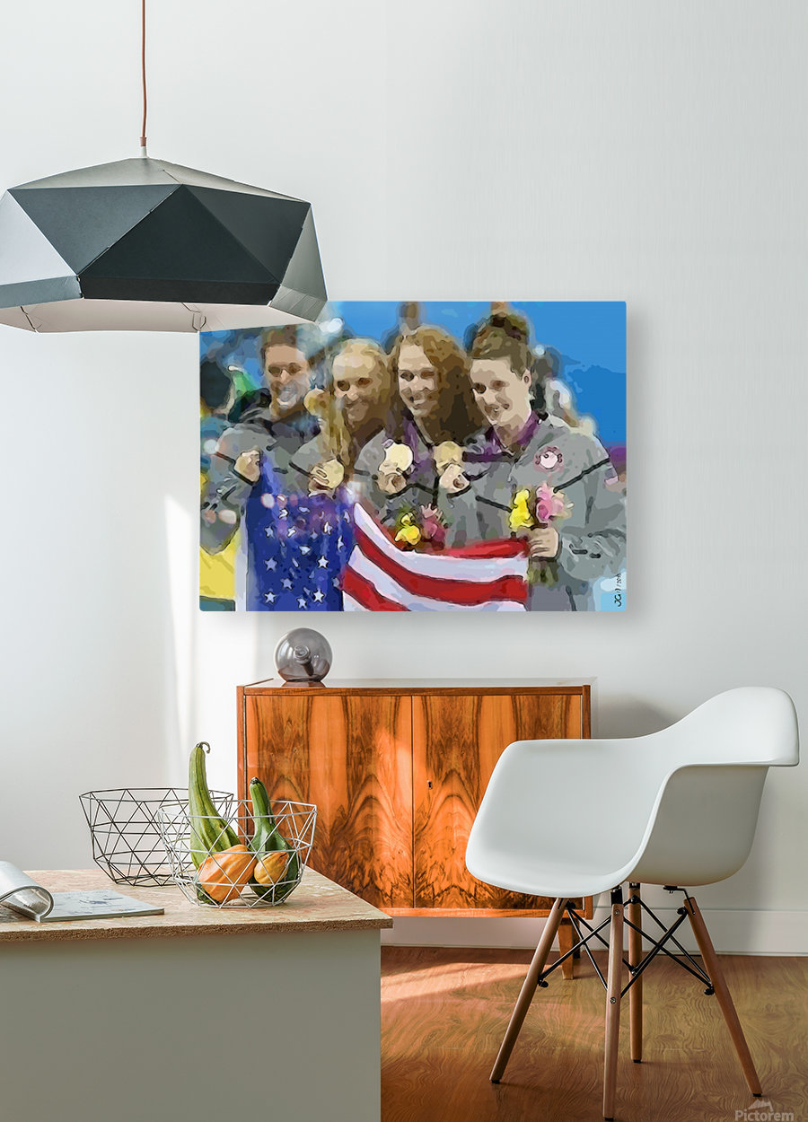 Athletics_48  HD Metal print with Floating Frame on Back
