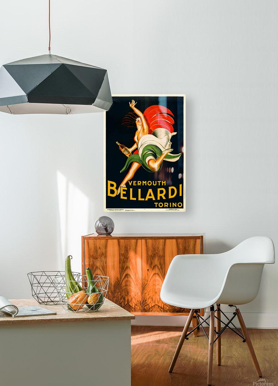 Vermouth Bellardi Torino  HD Metal print with Floating Frame on Back