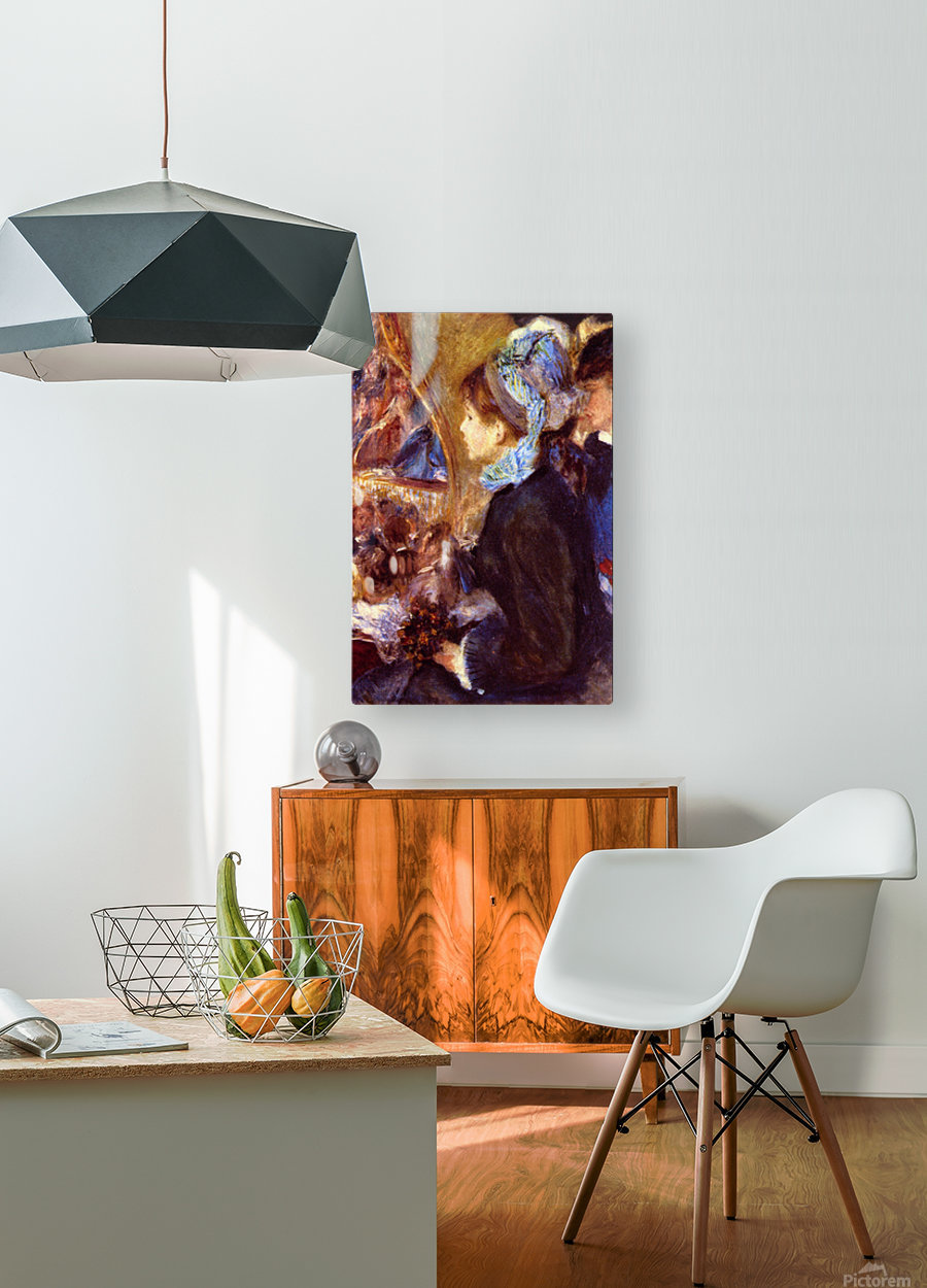 Le Cafe Concert by Renoir  HD Metal print with Floating Frame on Back