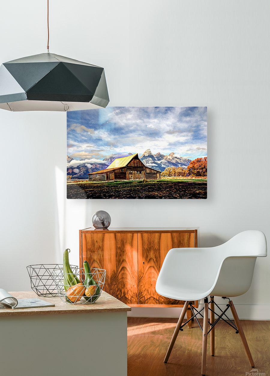 Mormon Row   Jackson Hole  HD Metal print with Floating Frame on Back
